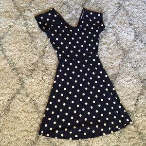 Polka Dot dress with an open cross-back